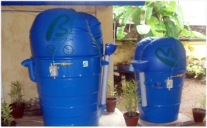 Mosquito-free Biogas plant invented by Dr.A.Sajidas, Director , BIOTECH